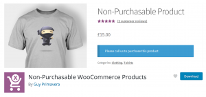 Plugin: Non-Purchasable WooCommerce Products