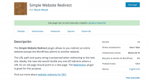Plugin: Simple Website Redirect – Redireccionar la web completamente (excepto el admin)